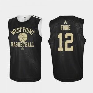 #12 Men's Army West Point Practice Basketball Nick Finke College Jersey Black