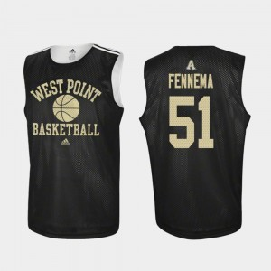 USMA For Men's #51 Black Parker Fennema College Jersey Practice Basketball