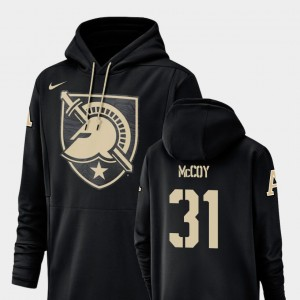 For Men's #31 Army Sandon McCoy College Hoodie Champ Drive Football Performance Black