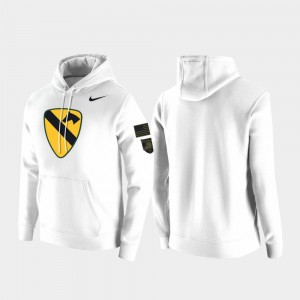 White 1st Cavalry Division College Hoodie Men United States Military Academy