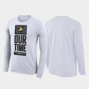 For Men's College T-Shirt Army White Our Time Bench Legend 2020 March Madness