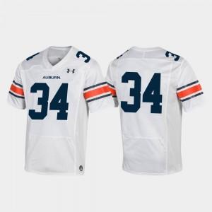 Auburn Football White Mens Replica College Jersey #34