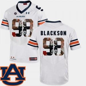 Angelo Blackson College Jersey Pictorial Fashion Men's AU White #98 Football