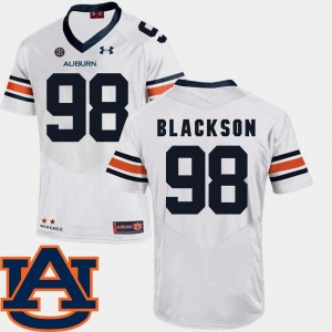 Angelo Blackson College Jersey SEC Patch Replica #98 Football Men's Tigers White