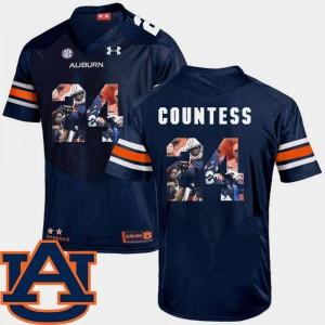 Auburn Pictorial Fashion Navy Football Mens Blake Countess College Jersey #24