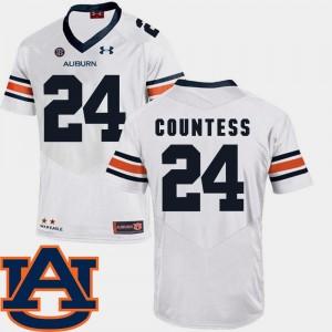 #24 SEC Patch Replica Men Blake Countess College Jersey Auburn University White Football