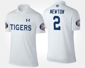 Mens Cam Newton College Polo Tigers #2 White