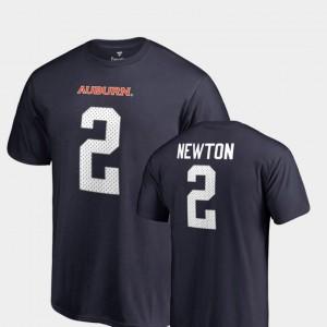 #2 Name & Number Navy Legends Cam Newton College T-Shirt AU Men's