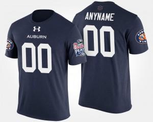 Navy Bowl Game #00 Peach Bowl Mens Auburn College Customized T-Shirt