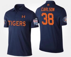 Daniel Carlson College Polo Bowl Game Men Auburn Tigers Navy #38 Peach Bowl