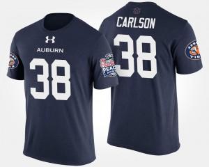 Daniel Carlson College T-Shirt #38 Peach Bowl Navy Bowl Game AU Men's