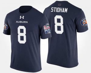 For Men Navy Jarrett Stidham College T-Shirt AU Peach Bowl #8 Bowl Game