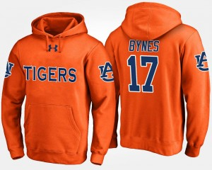 Men's Josh Bynes College Hoodie Orange #17 Tigers