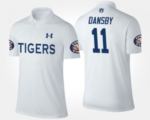 AU Karlos Dansby College Polo White #11 For Men's