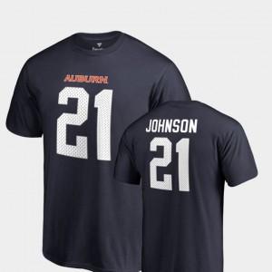 Navy #21 Auburn University Name & Number Mens Legends Kerryon Johnson College T-Shirt