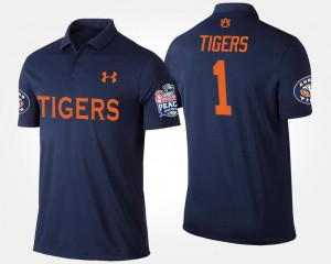 College Polo For Men #1 Navy Auburn Tigers No.1 Peach Bowl Bowl Game