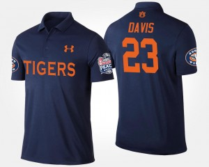 Ryan Davis College Polo AU Navy Bowl Game Peach Bowl Men's #23
