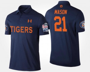 Mens Peach Bowl Navy Tre Mason College Polo Tigers #21 Bowl Game