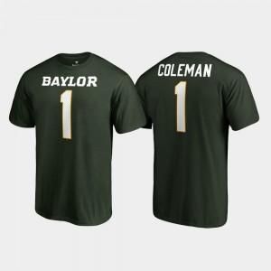 Bears Name & Number Legends Green For Men's #1 Corey Coleman College T-Shirt
