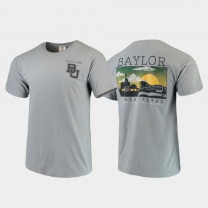 Comfort Colors College T-Shirt Baylor Gray Campus Scenery Men's