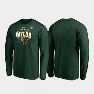2020 Sugar Bowl Bound Baylor Bears Men Tackle Long Sleeve College T-Shirt Green
