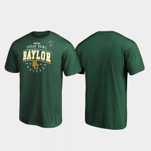 For Men College T-Shirt Baylor University Tackle 2020 Sugar Bowl Bound Green