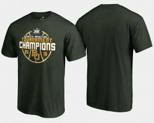 For Men's 2018 Big 12 Champions College T-Shirt Green Bears Basketball Conference Tournament