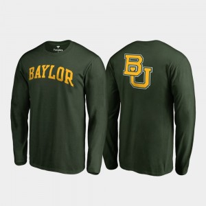 Bears Long Sleeve Men Green Primetime College T-Shirt