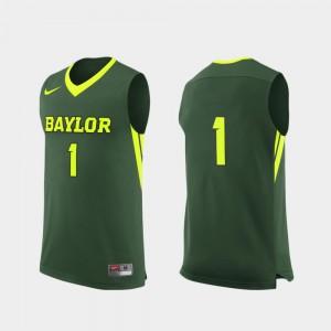 Baylor University Men Replica Basketball College Jersey Green #1