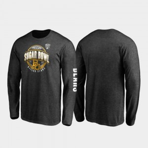 Neutral Stiff Arm Long Sleeve BU 2020 Sugar Bowl Bound Heather Charcoal Men's College T-Shirt