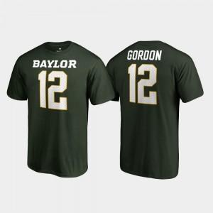 #12 Legends Josh Gordon College T-Shirt Men Name & Number Bears Green