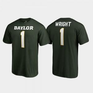 Kendall Wright College T-Shirt Legends For Men Name & Number #1 Baylor University Green