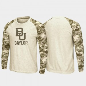 Oatmeal For Men Baylor College T-Shirt OHT Military Appreciation Raglan Long Sleeve Desert Camo