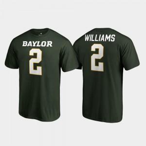 Name & Number For Men Green #2 Baylor Terrance Williams College T-Shirt Legends