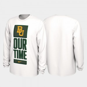 White 2020 March Madness Baylor For Men College T-Shirt Our Time Bench Legend