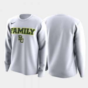 March Madness Legend Basketball Long Sleeve Men White College T-Shirt Family on Court Bears