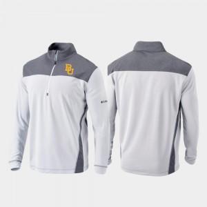 Omni-Wick Standard Baylor University Quarter-Zip Pullover White College Jacket Men