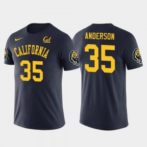 Future Stars Los Angeles Rams Football Golden Bears #35 Men C.J. Anderson College T-Shirt Navy