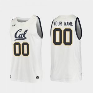 White 2019-20 Basketball College Custom Jersey #00 Replica Cal Bears For Men