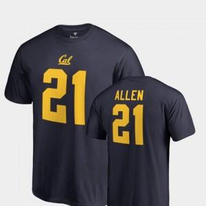 #21 Name & Number Navy Cal Golden Bears Keenan Allen College T-Shirt Legends Men