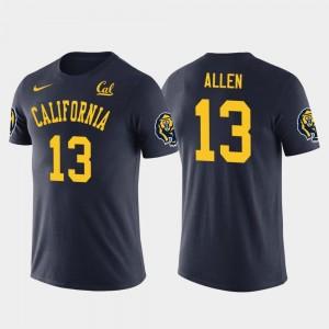 Los Angeles Chargers Football Keenan Allen College T-Shirt #13 Navy Men Future Stars Golden Bears