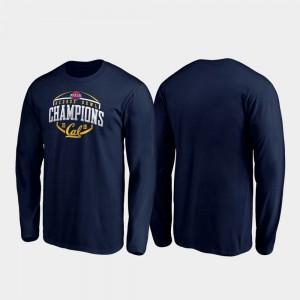 College T-Shirt Corner Long Sleeve 2019 Redbox Bowl Champions Navy Mens Berkeley