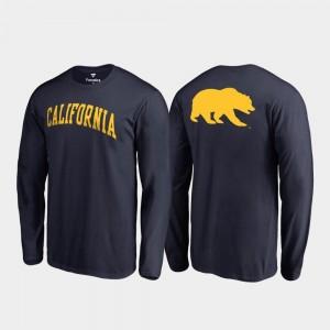 Navy California Berkeley Mens Primetime Long Sleeve College T-Shirt