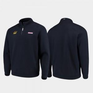 College Jacket Golden Bears For Men Navy Quarter-Zip Shep Shirt