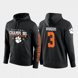 2018 National Champions #3 Football Pullover CFP Champs Black Amari Rodgers College Hoodie Mens