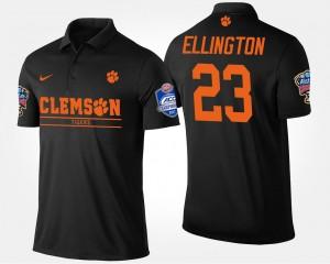 Black Andre Ellington College Polo Clemson National Championship #23 Mens Atlantic Coast Conference Sugar Bowl Bowl Game