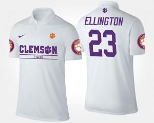 Andre Ellington College Polo Clemson University White Mens #23