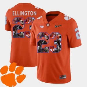 #23 Football Pictorial Fashion Clemson Men's Orange Andre Ellington College Jersey