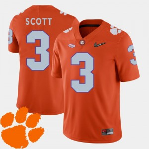 CFP Champs 2018 ACC #3 Men Artavis Scott College Jersey Orange Football
