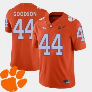 Football Orange Men B.J. Goodson College Jersey #44 Clemson Tigers 2018 ACC